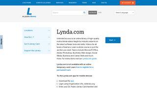 Lynda.com   District of Columbia Public Library