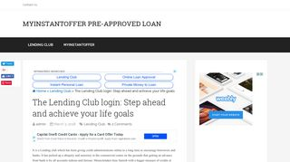 The Lending Club login: Step ahead and achieve your life goals ...