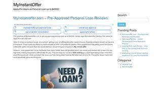 MyInstantOffer Pre-Approved Personal Loan - www.myinstantoffer.com