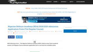 NDA 2019/2020 Admission Application Form (71st Regular Course)
