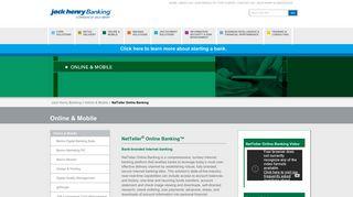 NetTeller Online Banking - Jack Henry Banking