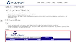 Netteller Information - Tri-County Bank