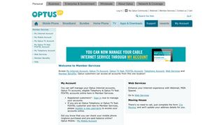 Optus myZOO - Member Services
