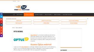 Go to Optus webmail - Optus email login & settings - USA