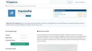 PracticePal Reviews and Pricing - 2019 - Capterra