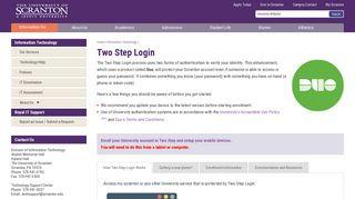 Two Step Login   Information Technology - The University of Scranton