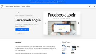 Facebook Login - PageLines