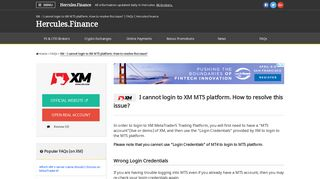 XM – I cannot login to XM MT5 platform. How to resolve this issue ...