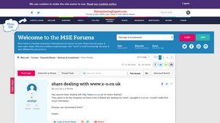 share dealing with www.x-o.co.uk - MoneySavingExpert.com Forums