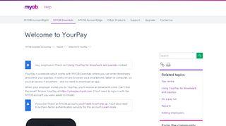 Welcome to YourPay - MYOB Essentials Accounting - MYOB Help ...