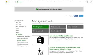 My account : Manage account - Xbox Support