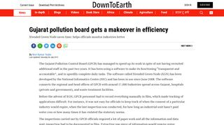Gujarat pollution board gets a makeover in efficiency - Down To Earth
