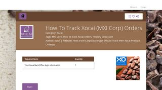 How To Track Xocai (MXI Corp) Orders - Steptap