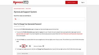 How To Change Your XpressLab Password – XpressLab Support ...
