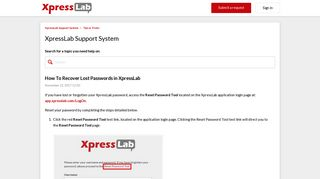 How To Recover Lost Passwords in XpressLab – XpressLab Support ...