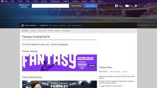 Fantasy Football 2018   Fantasy Football   Yahoo! Sports