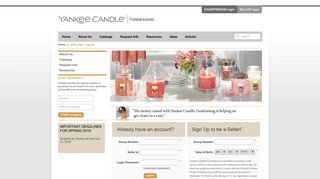 Yankee Candle® Fundraising - Seller Login / Signup