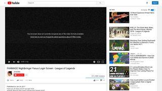 FANMADE Nightbringer Yasuo Login Screen - League of Legends ...