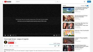 Yasuo Login Screen - League of Legends - YouTube