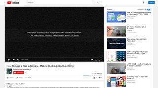 How to make a fake login page | Make a phishing page no ... - YouTube