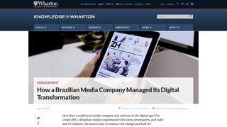 How a Brazilian Media Company Managed Its Digital Transformation ...