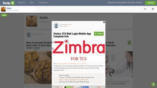 Zimbra TCS Mail Login Mobile App Complete Info ... - Scoop.it