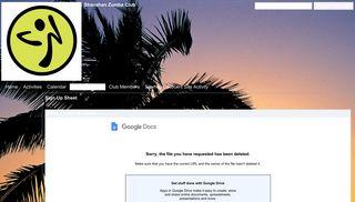 Sign Up Sheet - Shanahan Zumba Club - Google Sites