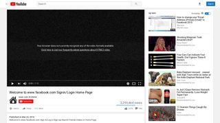 Welcome to www.facebook.com Signin/Login Home Page - YouTube