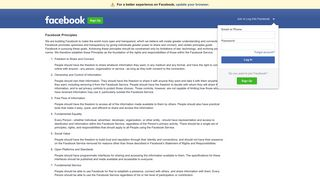 Facebook Principles