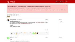 Login cpanel issue - 000webhost forum