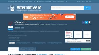 000webhost Alternatives and Similar Websites and Apps ...