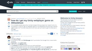 how do i get my Unity webplayer game on 000webhost - Unity Answers