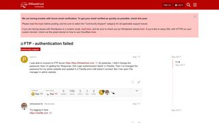 FTP - authentication failed - Community support - 000webhost forum