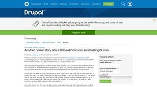 Another horror story about 000webhost.com and hosting24.com - Drupal