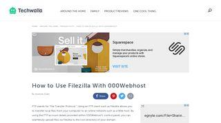 How to Use Filezilla With 000Webhost   Techwalla.com