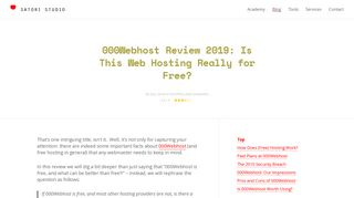 Don't Use 000Webhost in 2019 Until You Read Our Review