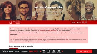 Cant sign up to the website - Community support - 000webhost forum