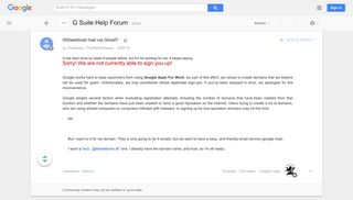 000webhost mail via Gmail? - Google Product Forums