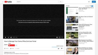 How to Manage Your Ooma Office End User Portal - YouTube