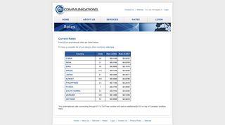 011 Communications, Inc. - 011 Communications - Rates