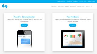 Login to our Fast Feedback or Proactive Communication solution