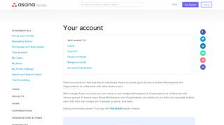 Managing your account settings   Product guide · Asana