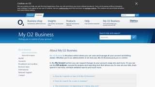 O2 | O2 Business | Help & Support | Billing | About My O2 Business