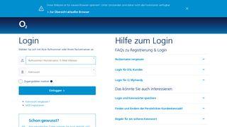 Rechnung & Guthaben - o2 Login für Mobilfunk, DSL und o2 My ...