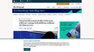 O2 network restored after Ericsson software outage left millions ...