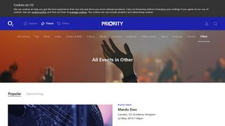 Priority Tickets - O2 Priority