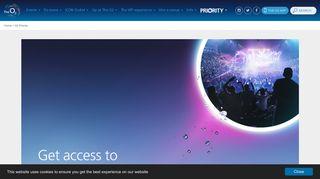 O2 Priority | The O2