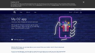 O2 | My O2 App | Available on iOS, Android and Windows