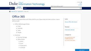 Office 365 | Duke University OIT