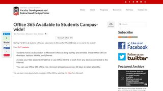 Office 365 Available to Students Campus-wide! – NIU Faculty ...
